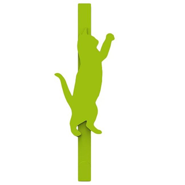 Elegant 玩耍貓門後長掛勾 綠色款