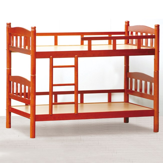 【YFS】斐迪南3尺柚木色雙層床-100x201x156cm