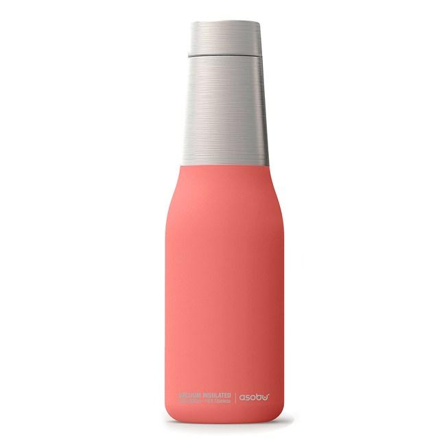 Asobu 不鏽鋼繽紛雙層保溫瓶蜜桃粉
