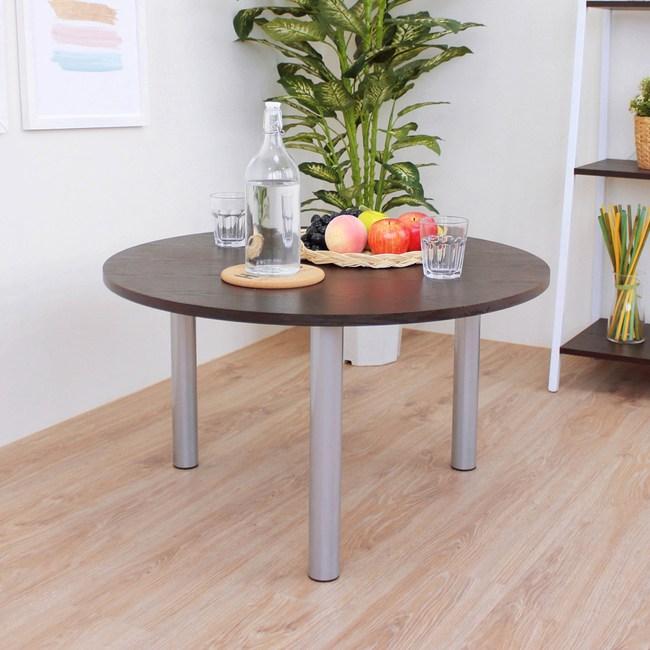 【頂堅】圓形和室桌/矮腳桌/邊桌/休閒桌-寬80x高45公分-二色可選深胡桃木色