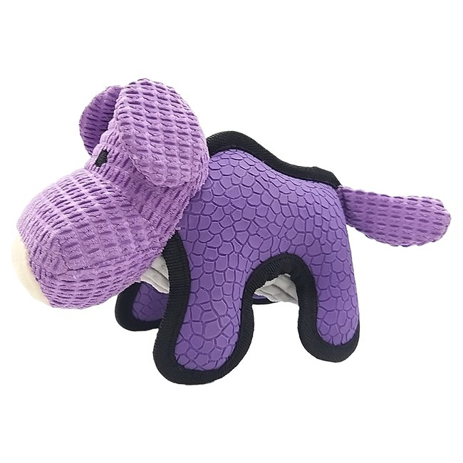 JohoE嚴選 耐咬Q彈笨河馬壓毛橡膠有聲寵物玩具狗玩具貓玩具