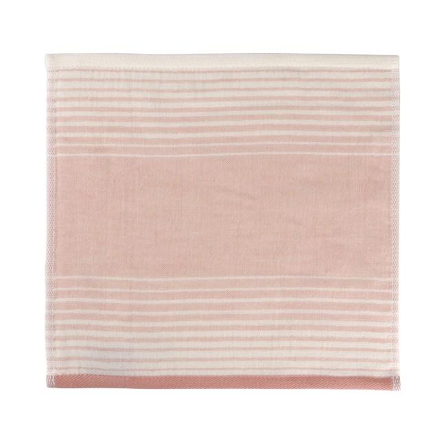 和風無撚紗布漸層小手巾 粉 24x24cm