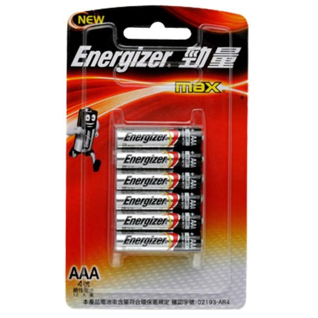 勁量鹼性4 號電池 12入