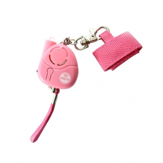 小惡魔爆音LED防身警報器-粉紅(ALM-100-M-01 P)