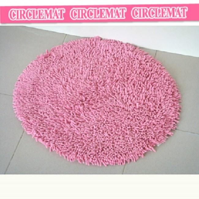 《純棉亮彩》超吸水圓形浴墊(蜜糖紅)(60*60cm)