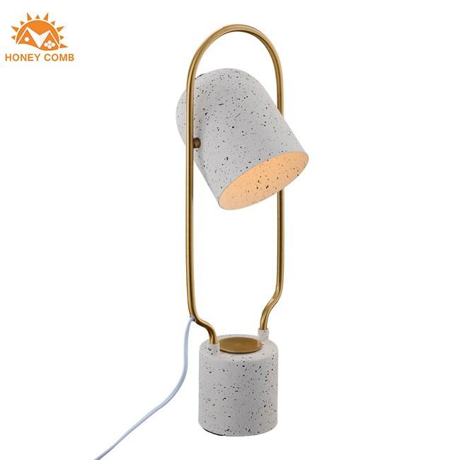 Honey Comb 北歐風水泥烤漆可調整閱讀燈桌燈 C5067-WH