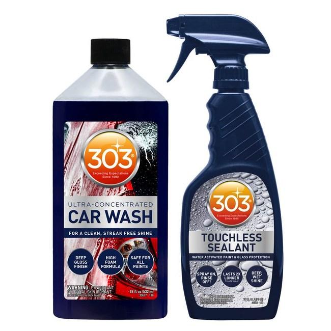 303 超值濃縮炫彩洗車精車體撥水劑保養組