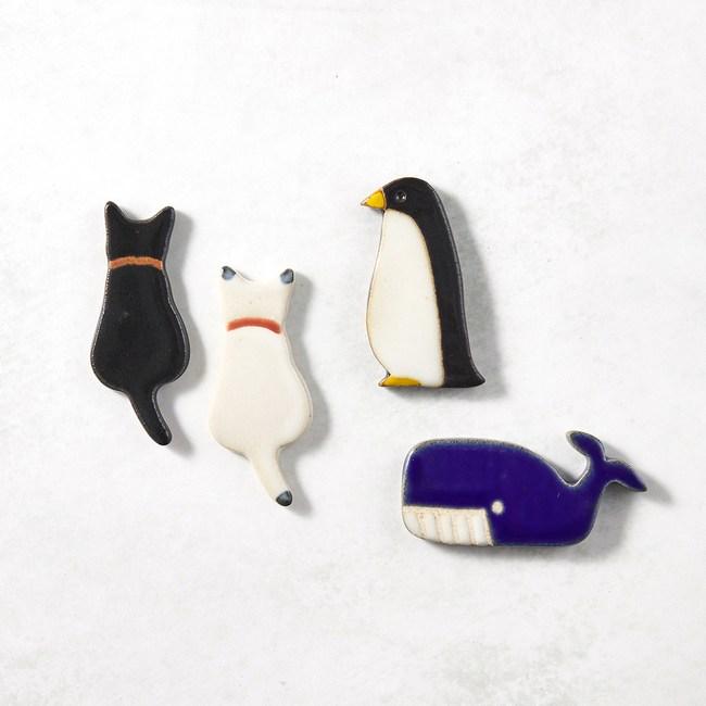 【有種創意】日本美濃燒 - 陶製手作筷架 - 動物樂園四件組