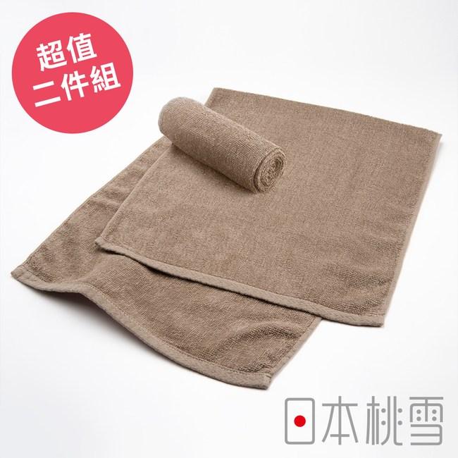 日本桃雪【綁頭毛巾】超值兩件組 淺咖啡色