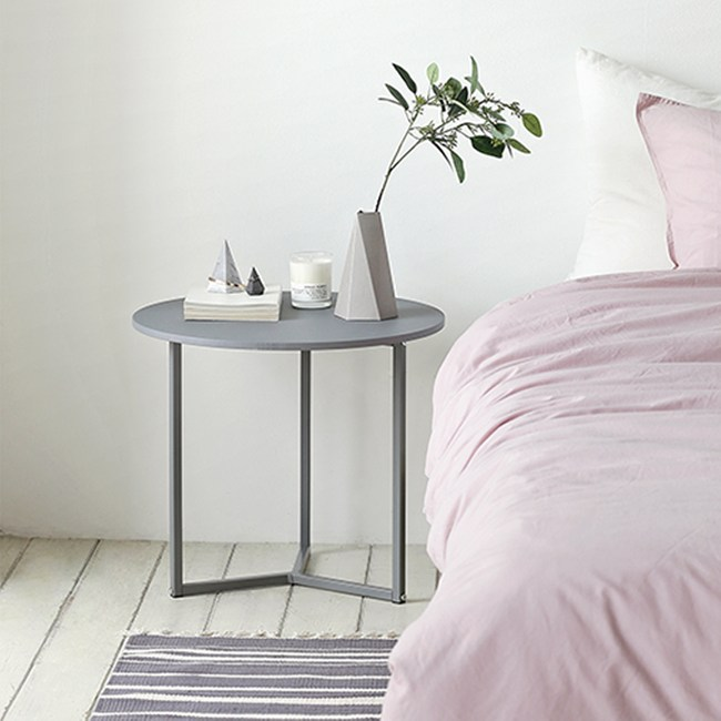 【MH家居】邊桌 邊几 諾迪北歐風圓形邊桌(灰色)