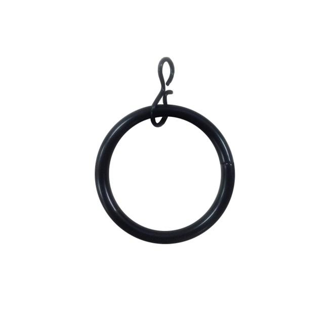 多樣屋金屬伸縮窗簾桿-金屬環10入 亮黑色