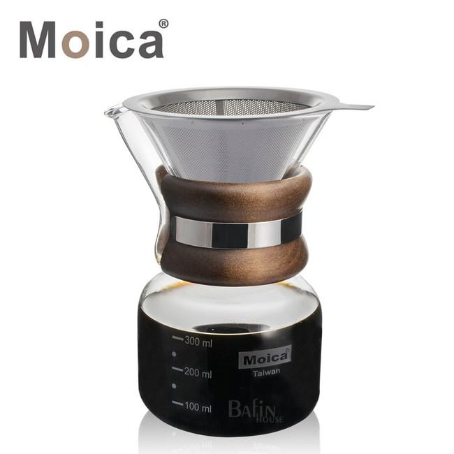 【Moica】不鏽鋼濾網及濾紙兩用手沖咖啡壺(附濾網)
