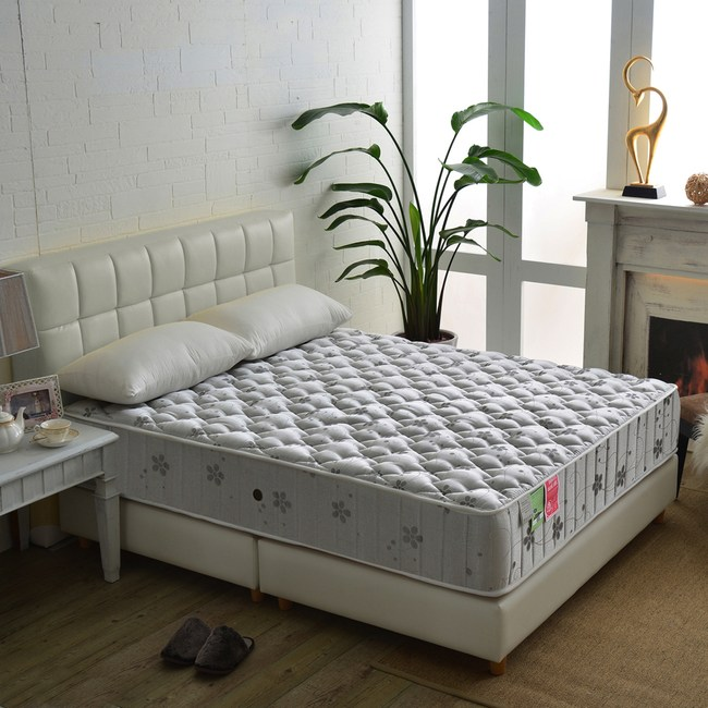 【睡芝寶】飯店級竹碳抗菌除臭防潑水蜂巢獨立筒床墊雙人5尺