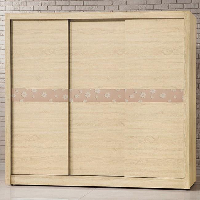 【YFS】伯裏斯7尺原切拉門衣櫃-211x60x203cm