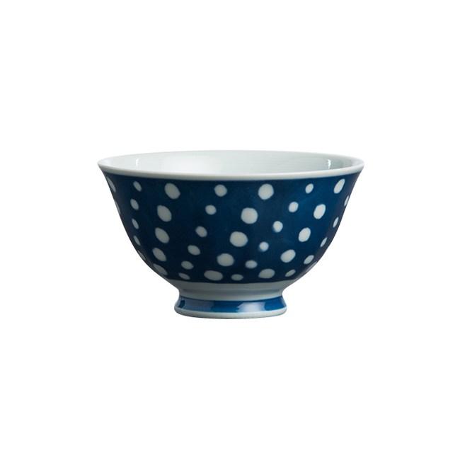日本 波佐見燒 藍水玉14.5cm多用碗