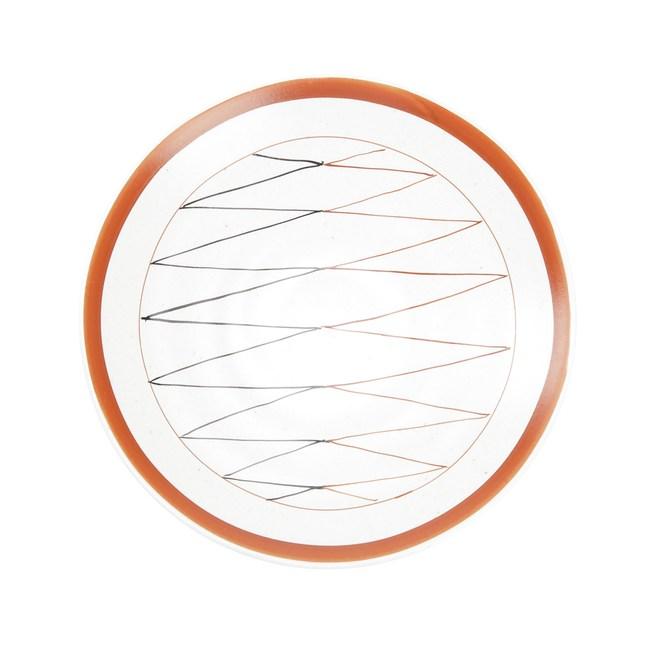 日本伊洛手繪平盤16.5cm折線
