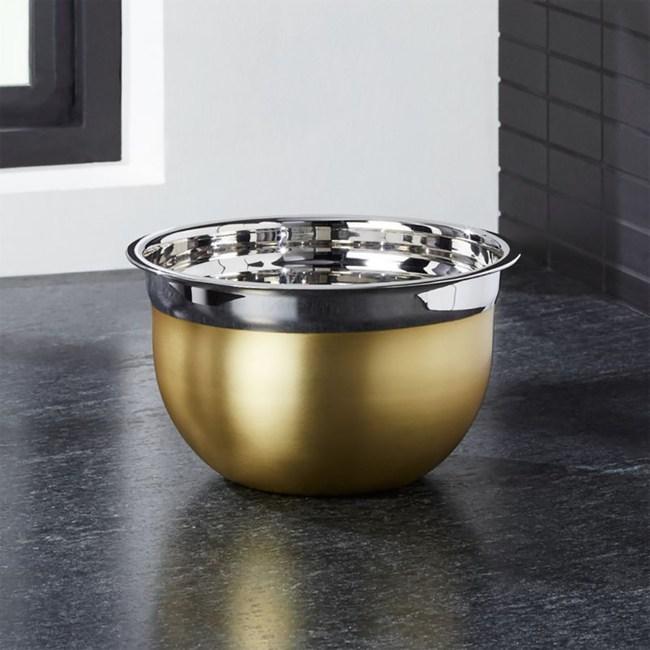 Crate&Barrel Gold 料理碗 17.5cm