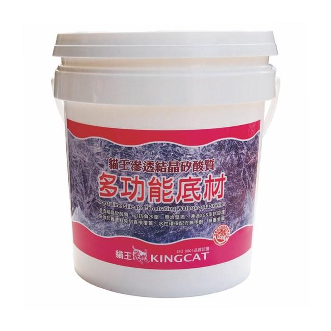 貓王矽酸質多功能底材1加侖白色