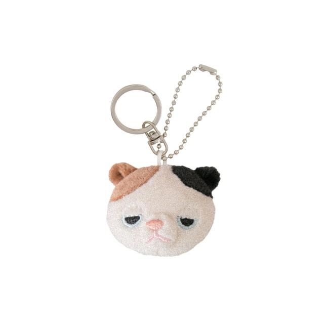 NEMU NEMU 玳瑁貓柚子吊飾鑰匙圈