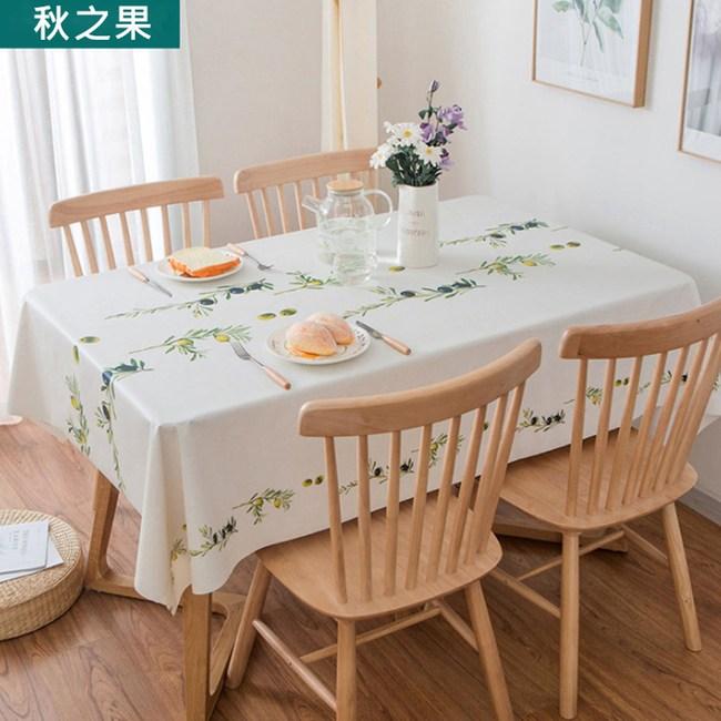 【媽媽咪呀】高級複合材質防水防油汙餐桌巾_秋之果_137*180cm1入