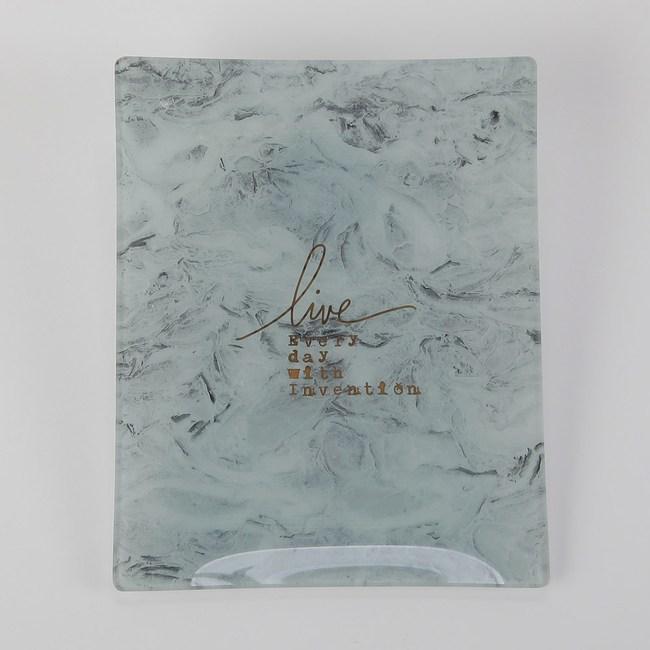 HOLA 厄圖爾石紋長方盤25x20cm