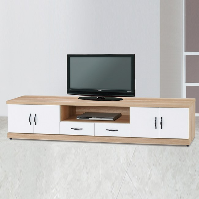 【YFS】雅典娜原木雙色7尺電視櫃-212x40x48cm