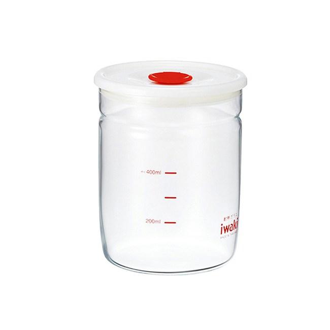 【iwaki】玻璃微波密封罐 550ml(細長款)