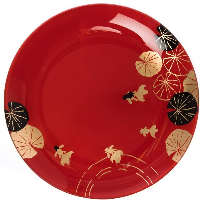 迎春盛宴系列 玻璃圓盤 24.5cm 紅色款