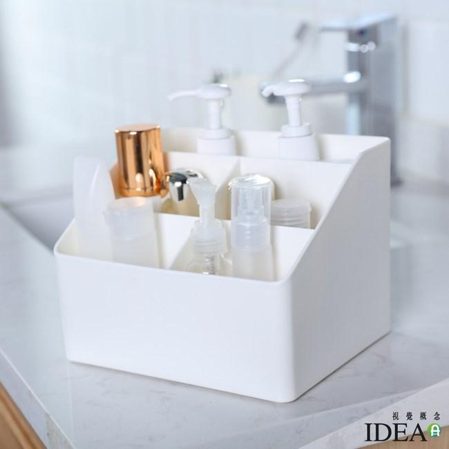 【IDEA】純色素面五格大容量瓶罐桌面收納盒綠色