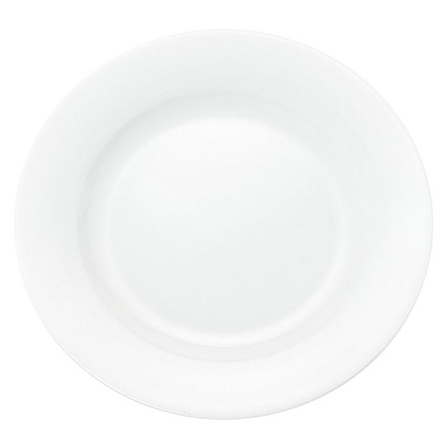 HOLA 緻白骨瓷平口平盤 20.5cm