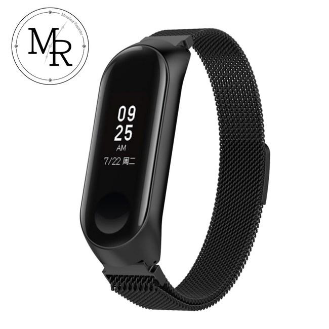 MR 小米智慧手環4 米蘭式磁吸錶帶(黑色)