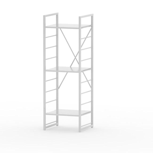 (組)特力屋萊特三層架白框/白板-40x40x128cm