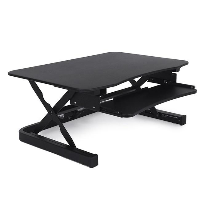 艾湃電競桌上型電動升降桌-黑