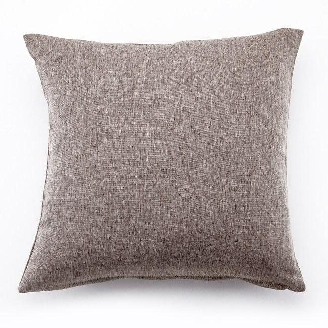 攸境仿麻素色抱枕 咖啡色