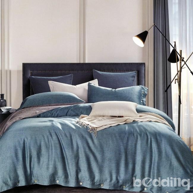 BEDDING-60支100%天絲-雙人薄床包鋪棉兩用被套四件組賽迪