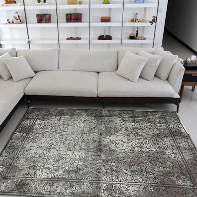 【山德力】復古地毯-庭園(灰) 170x240cm