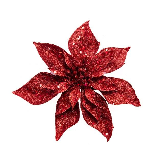 裝飾花夾 經典紅25cm
