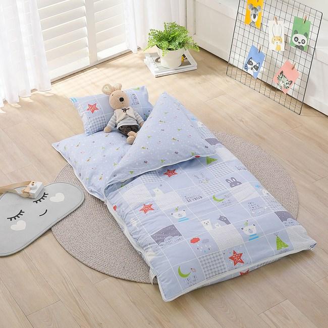 IN HOUSE-晚安熊熊-精梳棉200織紗兒童睡袋(藍)