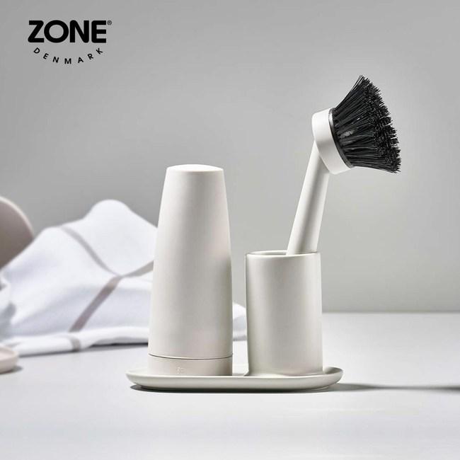 【丹麥ZONE】Singles餐具清潔二件組(附陶瓷收納座)岩黑