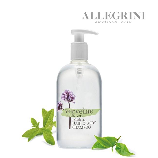 【ALLEGRINI艾格尼】綠茶馬鞭草髮膚清潔露500ml