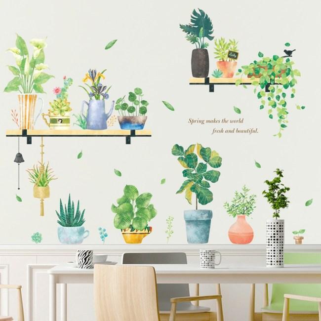 【Loviisa 盆栽造景】無痕壁貼 壁紙