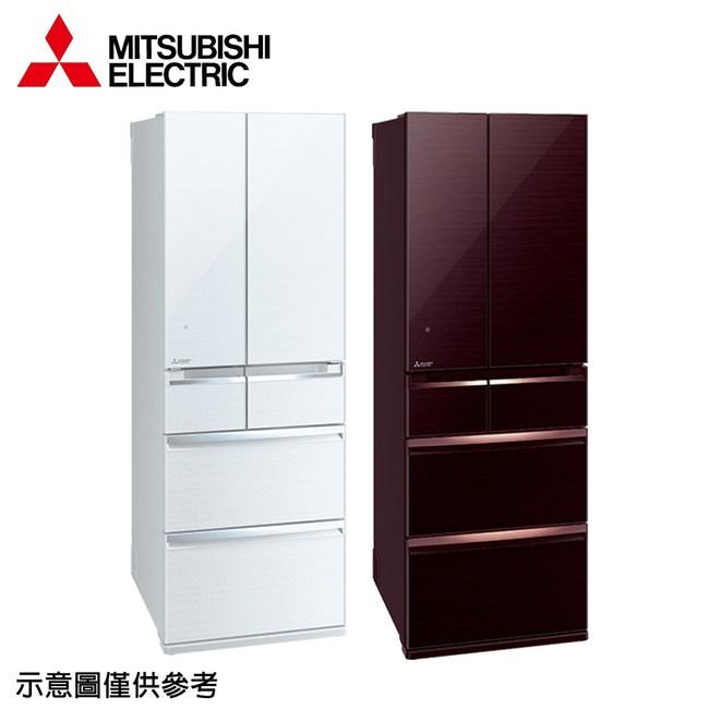 【MITSUBISHI三菱】525公升變頻六門冰箱MR-WX53C水晶棕