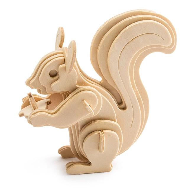 木質拼圖系列-可愛松鼠 JP217