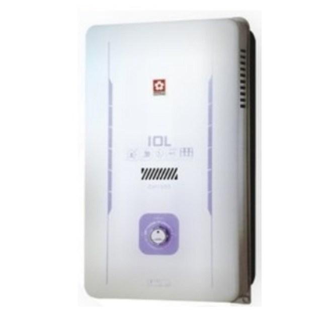 (含標準安裝)櫻花水盤式屋外型熱水器GH-1005天然氣