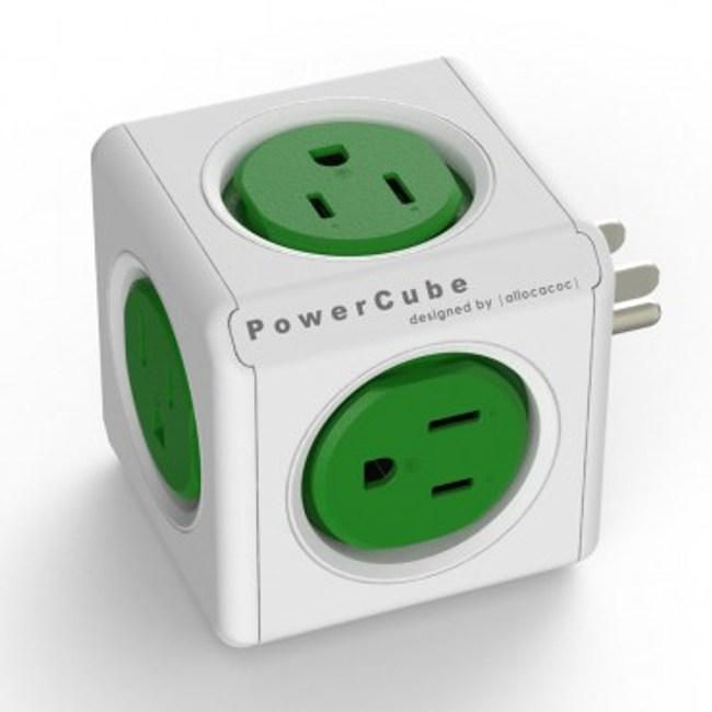PowerCube擴充插座 綠色