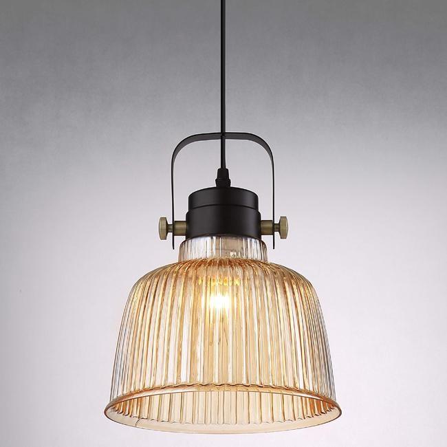 HONEY COMB 英倫工業風琥珀玻璃單吊燈 TA7460R