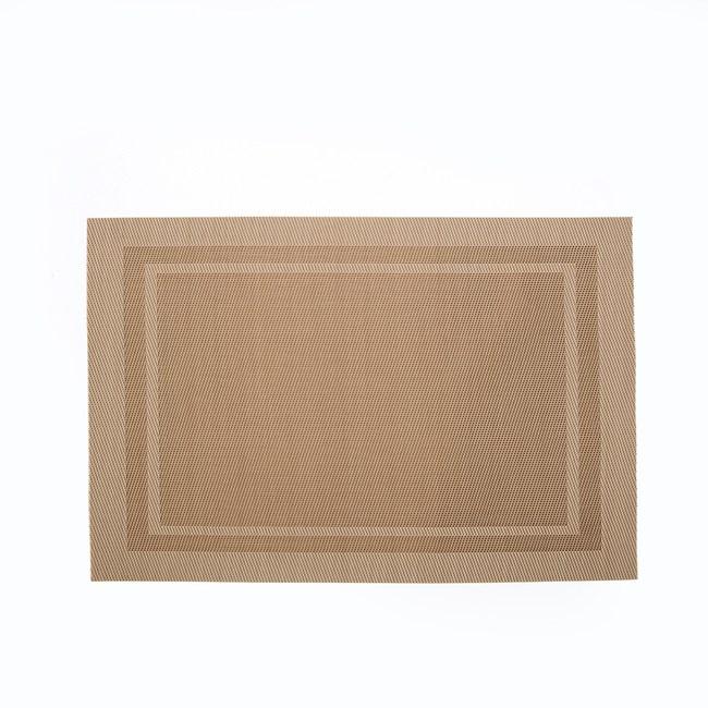 HOLA 雙框PVC餐墊30x45cm 淺咖