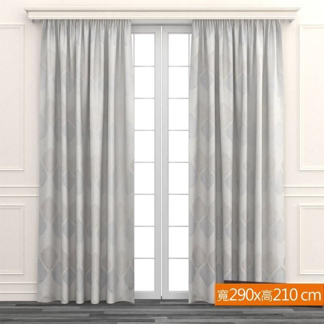莉芙緹花雙層遮光窗簾 寬290x高210cm 紫色款