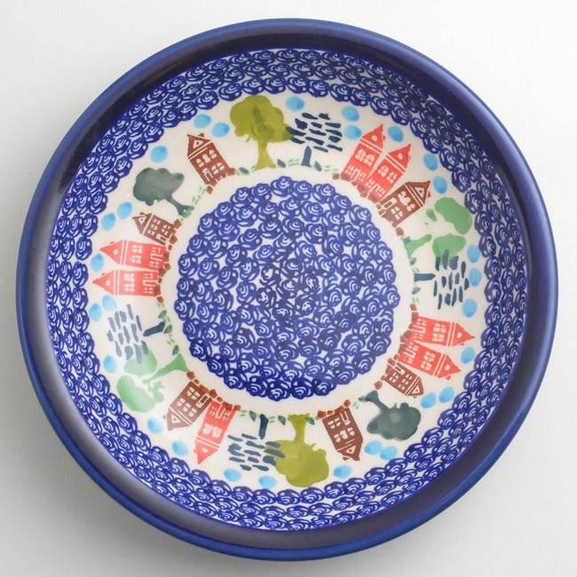 波蘭陶 浪漫美屋系列 圓形深餐盤 22cm 波蘭手工製