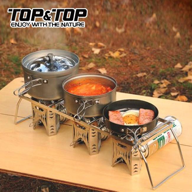 【韓國TOP&TOP】加大型不銹鋼爐架/烤架/登山爐架/爐頭架